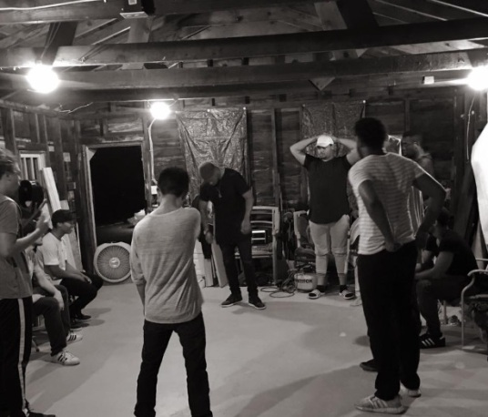 session in the garage