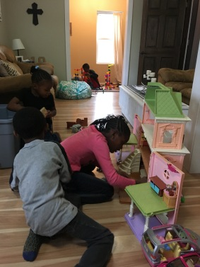How kids play house tells a lot about their home life.